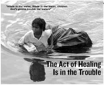 the act of healing is in th