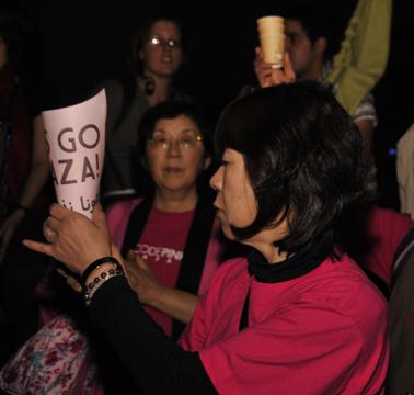 GFM participant at Gaza invasion commemoration Dec. 27, 2009