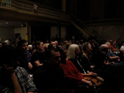 A large audience gathered at Judson Memorial Church on Jan. 21 to hear reports from the Gaza Freedom March.