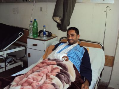 Muhammed Samouni at Shifa Hospital.
