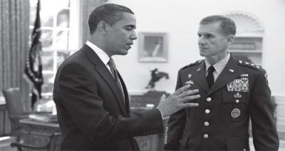 BLUEPRINT FOR AGGRESSION: President Barack Obama speaks with Lt. Gen. Stanley A. McChrystal in the Oval Office in May 2009. PHOTO: PETE SOUZA, FLICKR.COM/THEWHITEHOUSE
