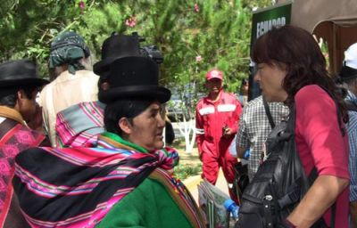 ONE WORLD: The World People's Conference on Climate Change was held in Bolivia in April, attracting some 35,000 people from around the world to participate. PHOTO: KARAH WOODWARD