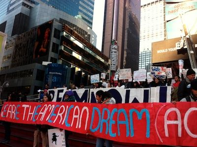 Rally for the DREAM ACt in Times Square. Photo: Renée Feltz