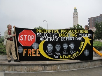 CRIMINAL TRAP: Activists are working to bring attention to the role of FBI entrapment in the conviction of the Newburgh Four. PHOTO: PROJECT SALAM