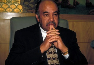 Ward Connerly, a California-based black anti-affirmative action crusader who has successfully spearheaded similar campaigns in California and Michigan. PHOTO: COLORLINES.