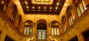 "The lobby of the Woolworth Building will be the starting point for this February's ""Unbuilding New York"" tour. CREDIT: lmcc.net"