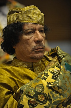 POWER HUNGRY: Col. Muammar Gaddafi has managed to last in power for 42 years in part by demolishing Libya's civil society. PHOTO: Wikipedia