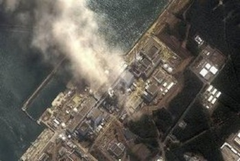 The No.3 nuclear reactor of the Fukushima Daiichi nuclear plant is seen burning after a blast following an earthquake and tsunami in this handout satellite image taken March 14, 2011. PHOTO: REUTERS/Digital Globe/Handout