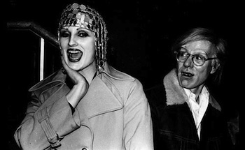 "Anton Perich's photograph of Candy Darling and Andy Warhol is part of the exhibit ""Slavs of New York: Andy Warhol's Nowhere. CREDIT: Anton Perich"