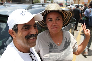 "Three years ago, Acapulco couple Jaime Montaner and Julia Alonso's son Julio Alberto López Alonso was kidnapped outside of Monterrey, Nuevo Leon while on vacation.  They have since devoted themselves to finding their son, even taking the extreme measure of dropping reward flyers from an airplane over Monterrey in 2009. In their search the couple has run into impossible bureaucracy and official indifference. ""[Nuevo Leon] hasn't done any investigation, they haven't done anything…Why haven't they done anything? I have no idea,"" Julia said. ""We have also made asked the federal government for help…but they haven't done anything either."""