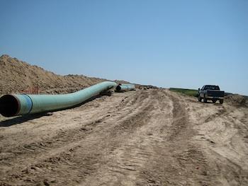 Keystone pipeline under construction. PHOTO: Shannon Ramos