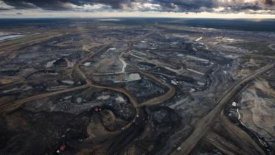Tar sands mining operation, photo courtesy Tar Sands Action