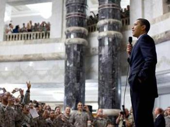President Obama speaking to U.S. troops (Photo: Pete Souza)