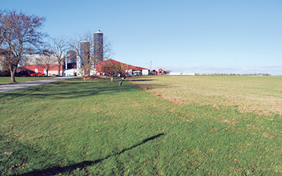 A small dairy farm in the Finger Lakes region  where a worker was killed due to unsafe working conditions.  The Occupational Safety and Health Administration cannot inspect farms with fewer than 11 employees.