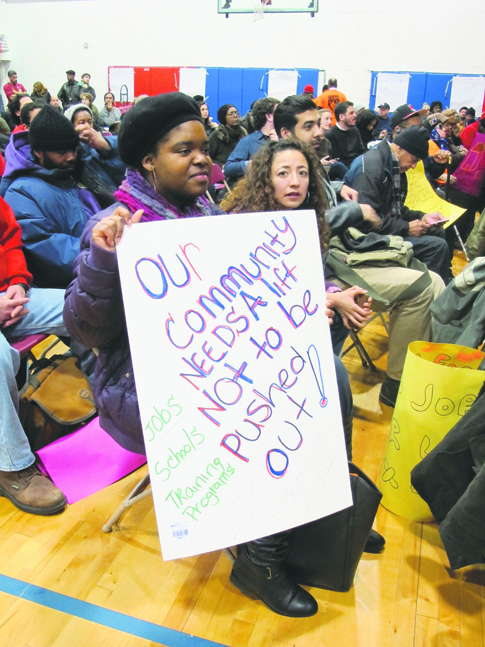 Hundreds of Bronx residents turned out during a blizzard last March for a forum organized by Community Action for Safe Apartments (CASA). Opposition was running high to a proposal by the de Blasio administration to rezone a 73-square block swath of land just north of Yankee Stadium.
