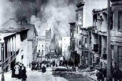 The San Francisco earthquake, 1906.