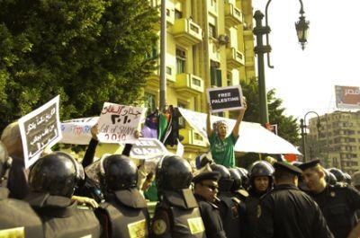 The protest at Tahrir Square. Photo by Ellen Davidson