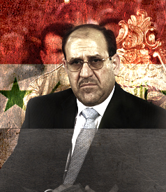 Iraqi Prime Minister Nouri al-Maliki. IMAGE CREDIT: Lance Page / t r u t h o u t; Adapted: Staff Sgt. Jessica J. Wilkes, lepiaf.geo