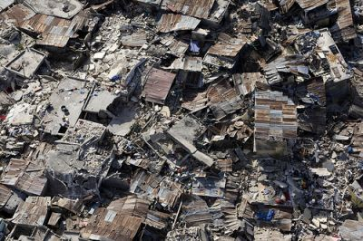 A poor neighborhood in Haiti is demolished after the earthquake, which measured 7 plus on the Richter scale. PHOTO: Courtesy of United Nations Development Programme