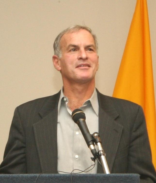 Norman Finkelstein gives a talk at Suffolk University in 2005.  PHOTO:  http://en.wikipedia.org/wiki/File:Norman_finkelstein_suffolk.jpg