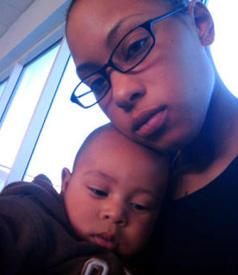 Army Spc. Alexis Hutchinson with son Kamani Hutchinson. PHOTO CREDIT: Alexis Hutchinson / Oakland Tribune