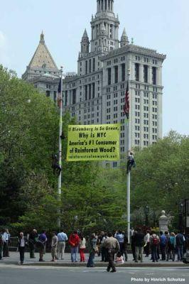 City Hall Banner Drop