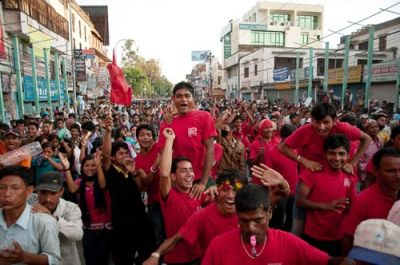 PEOPLE POWER: The streets of Kathmandu were packed with crowds supporting a general strike. The revolutionary spirit, organized by the Unified Communist party, is sweeping across Nepal.
