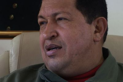 Venezuelan president Hugo Chávez was one of seven Latin American presidents interviewed for Stone's documentary, 'South of the Border.'