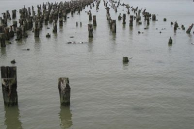 EMILY ROYSDON's music at the Chamber Street piers resonates with the legacy of queer community and anti-gentrification struggles there. PHOTO: Piers unititled (Below the Surface), 2009. Courtesy of the artist and Whitney.org.