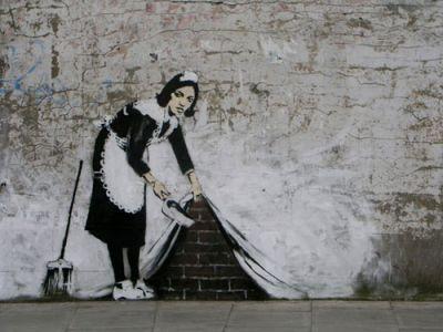 ARTWORK BY BANKSY in Camden, U.K. and Gound Zero (below). Photos courtesy of Banksy, banksy.co.uk.