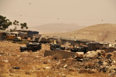 Jeeps in the Bedouin encampment above where we are staying. PHOTO: ELLEN DAVIDSON