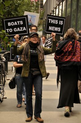 Demonstration in support of the May Gaza Freedom Flotilla. PHOTO:  ELLEN DAVIDSON
