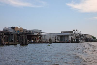 The local commercial shrimping industry, usually booming in the summertime, lies dormant. PHOTO: ERIKA BLUMENFELD
