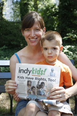 IndyKids founder Amanda Vender with her son, Miles. PHOTO: SAKURA KELLEY