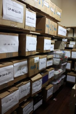 Hundreds of skeletons unearthed from mass graves, packed in boxes, remain unidentified at the forensic anthropology office in Buenos Aires. PHOTO: JOSEPH HUFF-HANNON