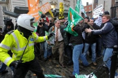 A November 22 protest near the Irish Prime Minister's office in Dublin.   (Peter Muhly/AFP/Getty Images)