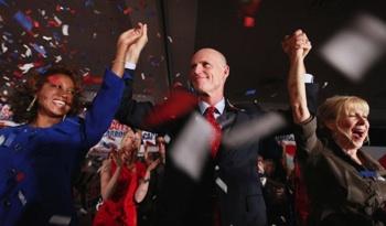 Florida Gov.-elect Rick Scott at his victory celebration on Nov. 3.  Photo: Getty Images/Joe Raedle