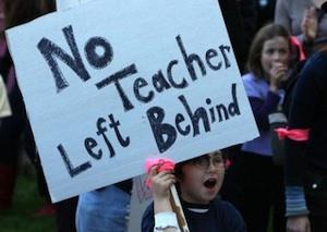 School budget cut protest in Berkeley, California, 2009. PHOTO: JUSTIN SULLIVAN/GETTY IMAGES.
