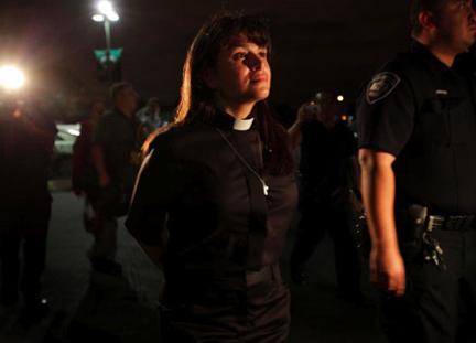Rev. Lorenza Andrade Smith arrested at Nov. 30th sit-in in San Antonio, Texas