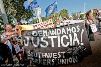 La Via Campesina March in Cancun. PHOTO: Redroadcancun via flickr