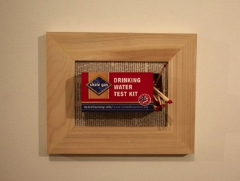 DON'T DRINK THE WATER: Artists and activists call attention to the environmental destruction caused by fracking in one of Exit Art's current exhibits.