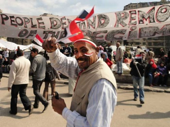 THE PEOPLE UNITED: Egypt celebrates the removal of the regime. PHOTO: Flickr/sierragoddess