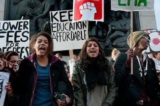 Britain's austerity budget has drawn strong criticism from most unions, but students, stung by a tripling of tuition, have led the resistance. PHOTO: Janine Wiedel Photolibrary/Alamy.