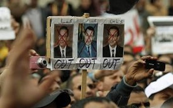 Millions of Egyptians have taken to the streets in Cairo, Alexandria and other cities in the past weeks. No fear in naming those they hold responsible either. Their ire ends not with Hosni Mubarak, but extends to the entirety of his repressive regime, including Omar Suleiman, for whom the US has expressed support. PHOTO: Dylan Martinez/Reuters