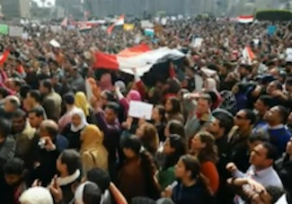 Protestors gathered in even greater numbers on Feb. 1, 2011. PHOTO: Al Jazeera