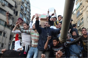 tanks for the help: Egyptians wonder if the military will give up power. PHOTO: Matthew Cassel