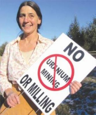 Cheri Chalfant, a resident of Floyd, Virginia, is part of a group organizing to keep uranium mining out of Virginia. PHOTO: Colleen Redman