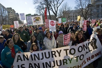 Progressives across the country—indeed, the world—have fixated on the demonstrations in Madison, Wis. PHOTO: Susan Ruggles/AFT Local 212