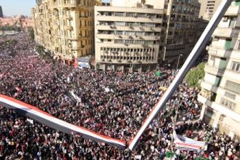 Cairo's Tahrir Square filled with the protesters who ended Mubarak's 30-year reign. Photo: Mai Shaheen