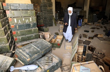 The opposition has seized weapons and ammunition from army depots in the east of the country. PHOTO: Reuters